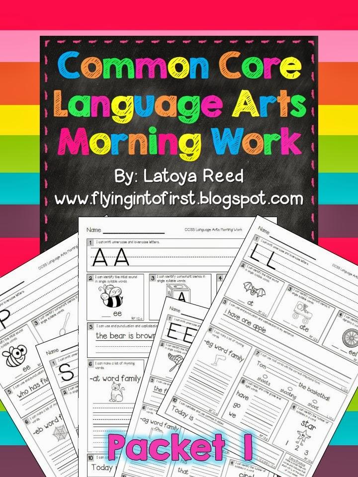 https://www.teacherspayteachers.com/Product/Morning-Work-for-ELA-Aligned-to-Common-Core-Packet-1-768606