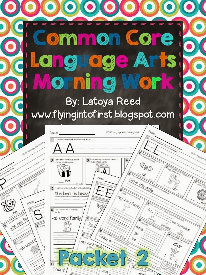https://www.teacherspayteachers.com/Product/Morning-Work-for-ELA-Aligned-to-Common-Core-Packet-2-903996