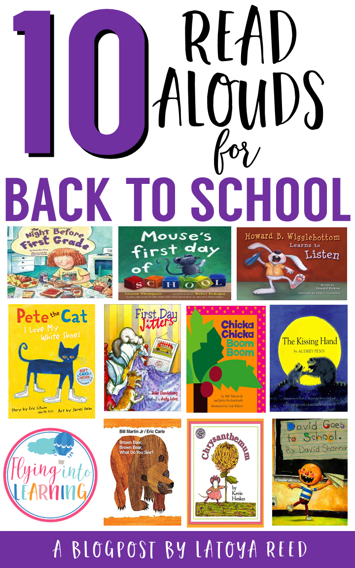 This is a list of 10 awesome back to school read alouds that are perfect for the first week of school.
